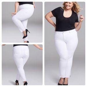 NYDJ Optic White Slim Straight Ankle Jeans